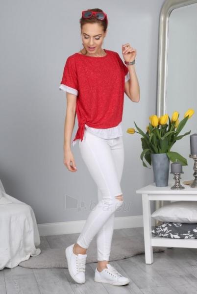 Marškinėliai Abigail (raudonos spalvos) Paveikslėlis 1 iš 3 310820033941