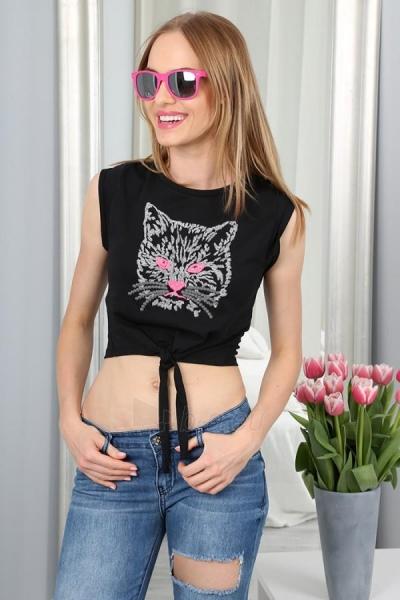 Marškinėliai Arleta (juodos spalvos) Paveikslėlis 1 iš 3 310820033964