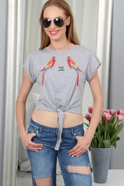 Marškinėliai Arva (šviesiai pilkos spalvos) Paveikslėlis 1 iš 4 310820033966