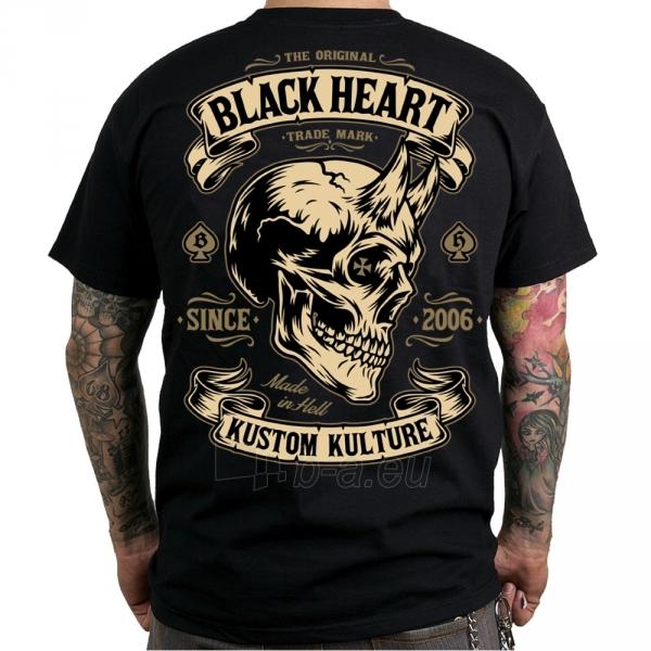 Marškinėliai BLACK HEART Devil Skull Paveikslėlis 1 iš 2 310820218072