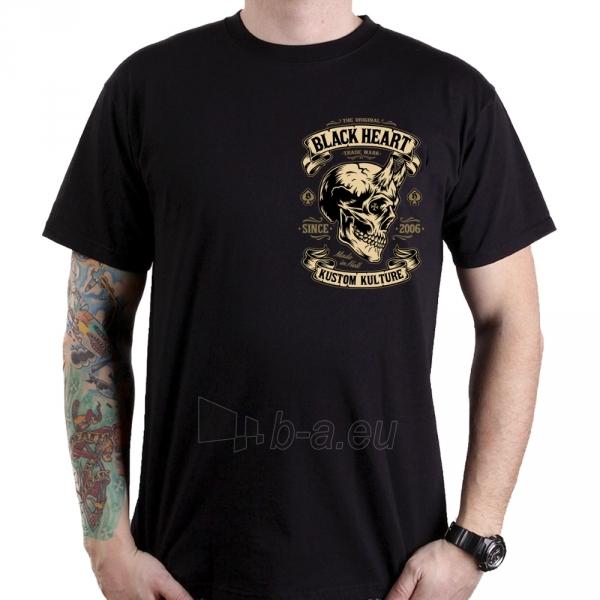 Marškinėliai BLACK HEART Devil Skull Paveikslėlis 2 iš 2 310820218072