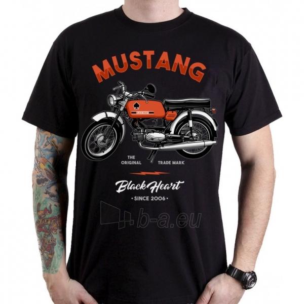 Marškinėliai BLACK HEART Mustang Paveikslėlis 1 iš 1 310820218077