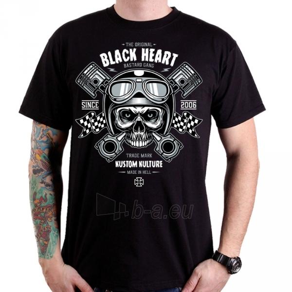 Marškinėliai BLACK HEART Piston Skull Paveikslėlis 1 iš 1 310820218073