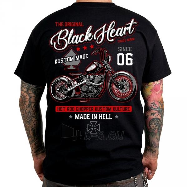 Marškinėliai BLACK HEART Red Chopper Paveikslėlis 1 iš 2 310820218067