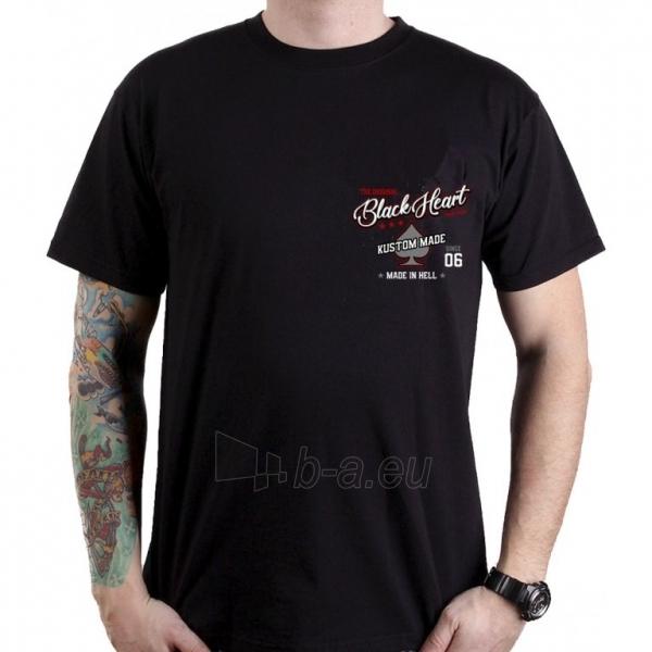 Marškinėliai BLACK HEART Red Chopper Paveikslėlis 2 iš 2 310820218067