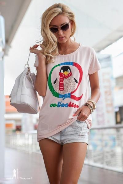 Marškinėliai Elissa (lašišinės spalvos) Paveikslėlis 1 iš 3 310820045905
