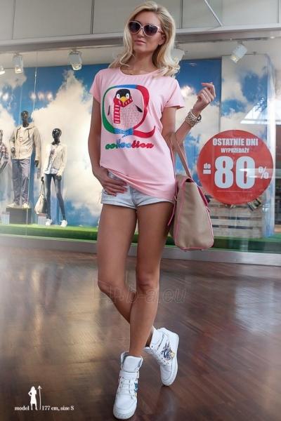 Marškinėliai Elissa (šviesiai rožinės spalvos) Paveikslėlis 1 iš 3 310820045902