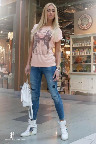 Marškinėliai Emeri (šviesiai rožinės spalvos) Paveikslėlis 1 iš 3 310820045899