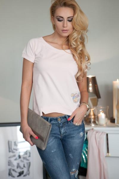 Marškinėliai Nandini (šviesiai rožinės spalvos) Paveikslėlis 1 iš 4 310820046244