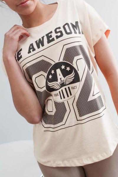 Marškinėliai Preston (kreminės spalvos) Paveikslėlis 1 iš 3 310820032978