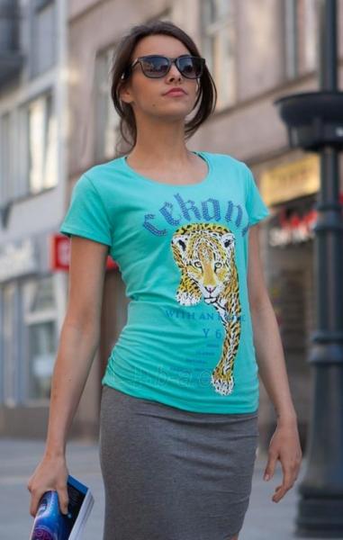 Marškinėliai Rabia. (mėtinės spalvos) Paveikslėlis 1 iš 4 310820033328