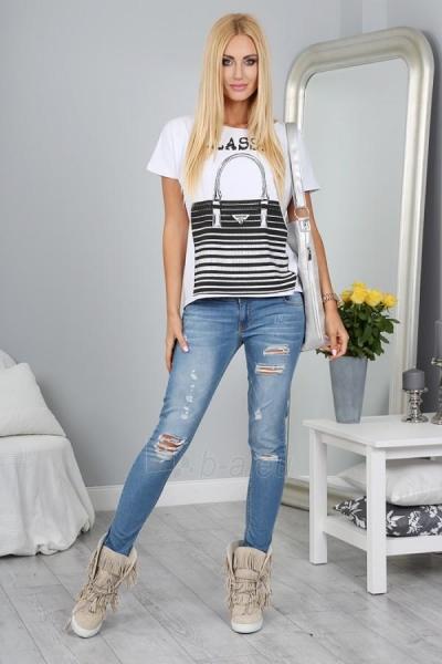 Marškinėliai Reba (baltos spalvos) Paveikslėlis 1 iš 3 310820032954