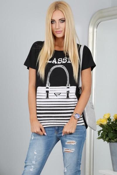Marškinėliai Reba (juodos spalvos) Paveikslėlis 1 iš 3 310820032957