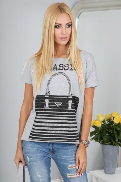 Marškinėliai Reba (šviesiai pilkos spalvos) Paveikslėlis 1 iš 3 310820032956