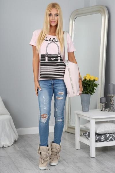 Marškinėliai Reba (šviesiai rožinės spalvos) Paveikslėlis 1 iš 3 310820032955