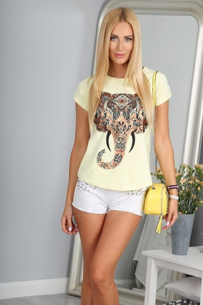 Marškinėliai Reiko (citrinos spalvos) Paveikslėlis 1 iš 3 310820032950