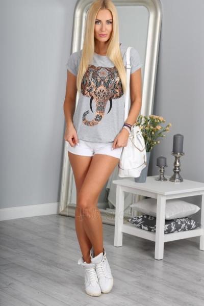 Marškinėliai Reiko (šviesiai pilkos spalvos) Paveikslėlis 1 iš 3 310820032952