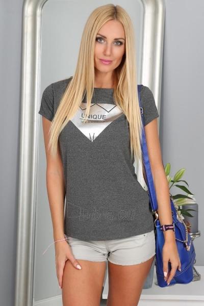 Marškinėliai Thea (tamsiai pilkos spalvos) Paveikslėlis 1 iš 3 310820035989