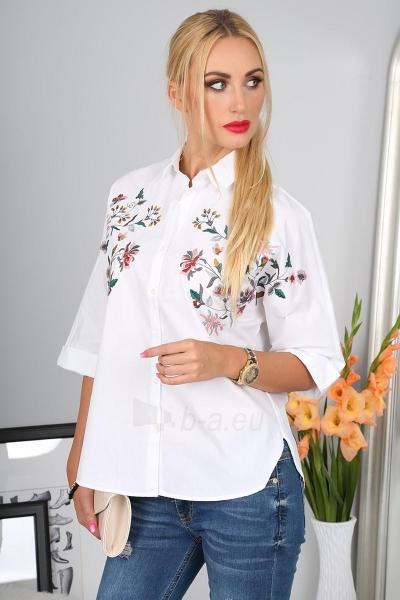 Marškiniai Amelia (baltos spalvos) Paveikslėlis 1 iš 4 310820046847