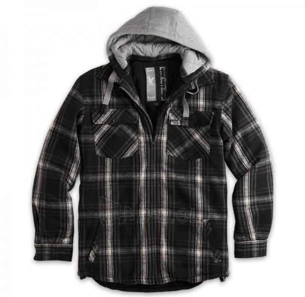 Marškiniai LUMBERJACK JACKET su kapišonu Surplus 20-3525-03 black Paveikslėlis 1 iš 1 251510500060