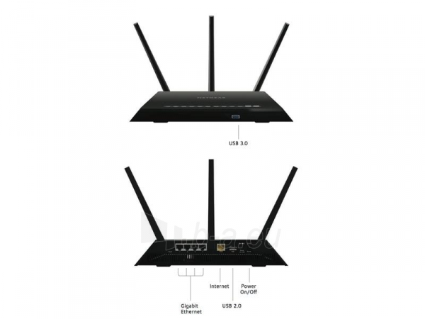 Maršrutizatorius NETGEAR AC1900 Nighthawk WiFi Modem Router ADSL/DSL Gigabit (D7000) Paveikslėlis 2 iš 4 310820011304