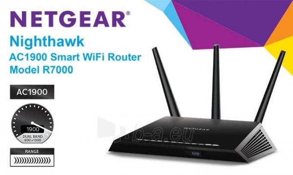 Maršrutizatorius NETGEAR AC1900 Nighthawk WiFi Modem Router ADSL/DSL Gigabit (D7000) Paveikslėlis 4 iš 4 310820011304