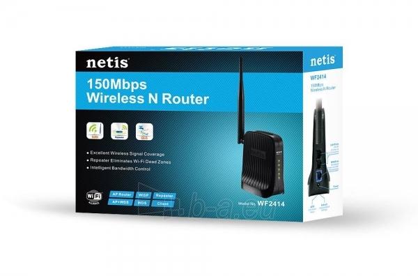 Maršrutizatorius Netis DSL WIFI G/N150 LAN x2, Antena 5 dBi Paveikslėlis 5 iš 5 250257200584
