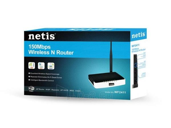 Maršrutizatorius Netis DSL WIFI G/N150  LAN x4, Atjungiama antena 5 dBi Paveikslėlis 6 iš 6 250257200692