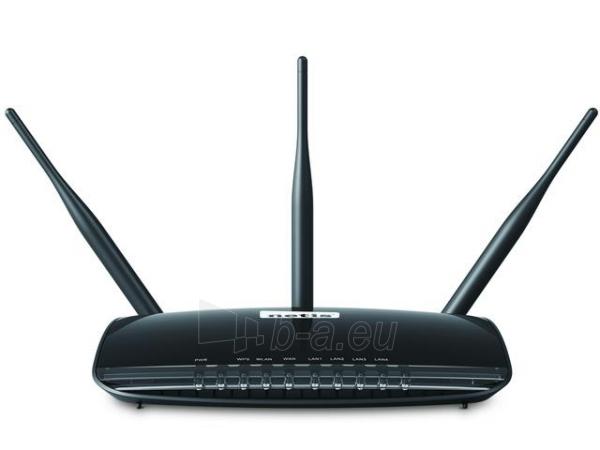 Maršrutizatorius Netis DSL WIFI G/N300 LAN x4, 2x 5dBi Antena high power Paveikslėlis 4 iš 5 250257200587