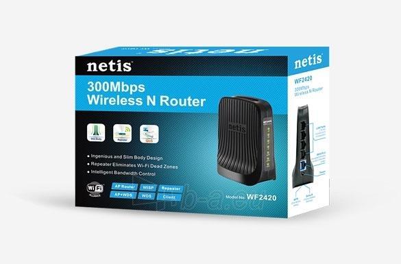 Maršrutizatorius Netis DSL WIFI G/N300 LAN x4 Paveikslėlis 5 iš 5 250257200586