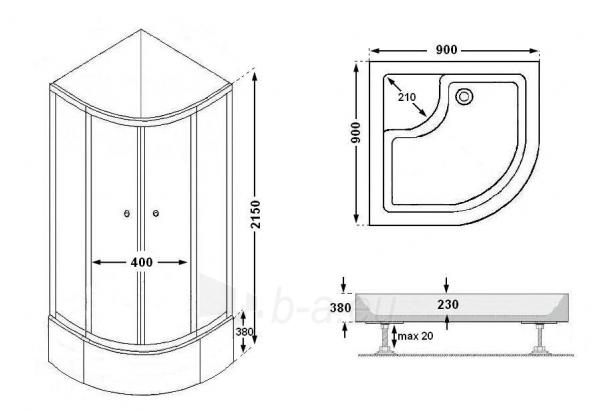 Masažinė dušo kabina K2001T Paveikslėlis 5 iš 8 270730000525