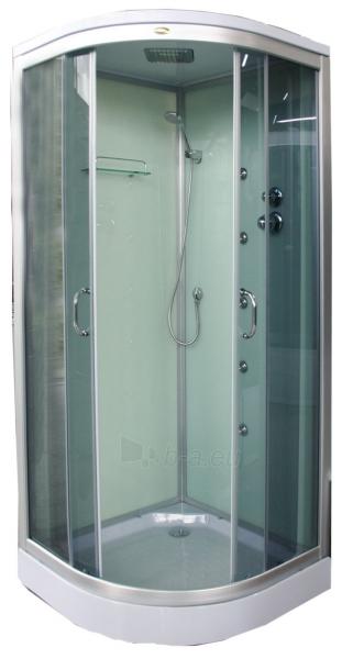 Masažinė dušo kabina K890 100x100 grey Paveikslėlis 1 iš 1 310820025596