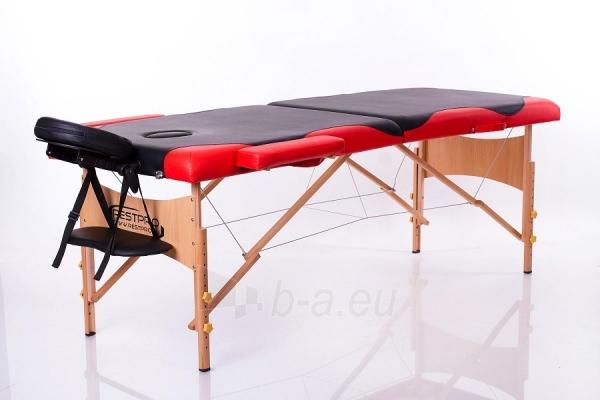 Masažo stalas RESTPRO Classic 2 Black & Red - sudedamas Paveikslėlis 1 iš 3 310820040635
