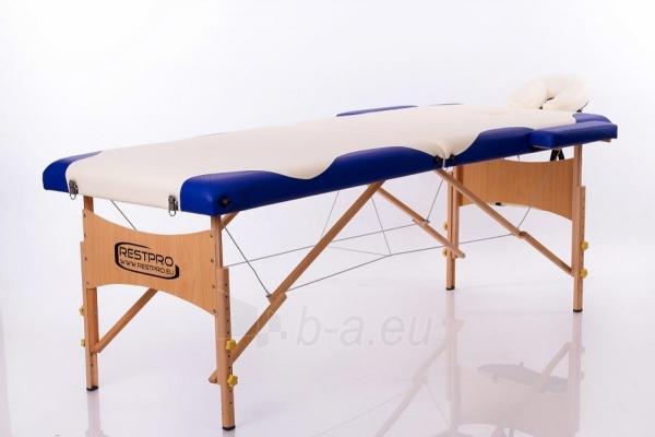 Masažo stalas RESTPRO Classic 2 Cream & Blue - sudedamas Paveikslėlis 1 iš 3 310820040644