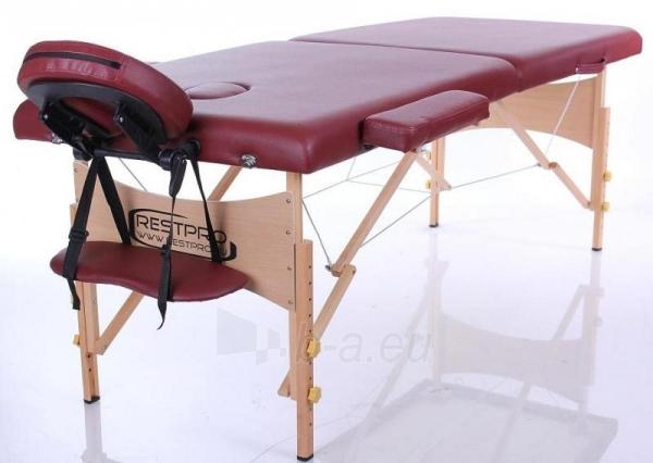 Masažo stalas RESTPRO Classic 2 Wine Red - sudedamas Paveikslėlis 1 iš 3 310820040643