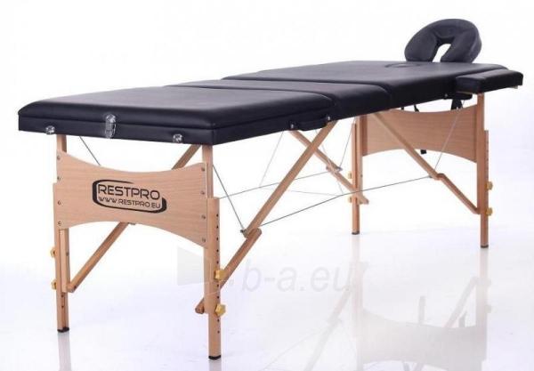Masažo stalas RESTPRO Classic 3 Black - sudedamas Paveikslėlis 1 iš 3 310820040634