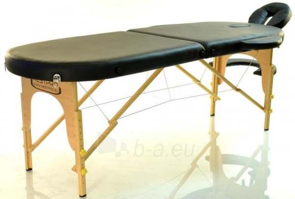 Masažo stalas RESTPRO Classic Oval 2 Black - sudedamas Paveikslėlis 1 iš 5 310820040616