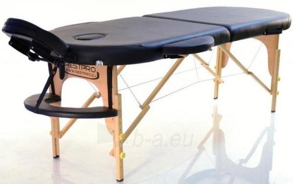 Masažo stalas RESTPRO Classic Oval 2 Black - sudedamas Paveikslėlis 5 iš 5 310820040616