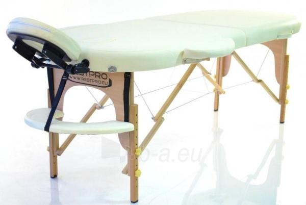 Masažo stalas RESTPRO Classic Oval 2 Cream - sudedamas Paveikslėlis 1 iš 3 310820040614