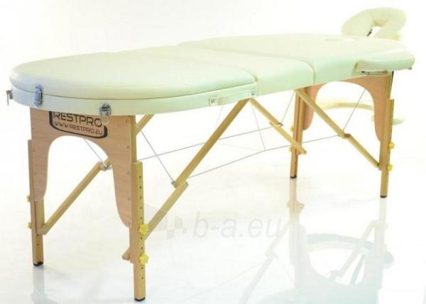Masažo stalas RESTPRO Classic Oval 3 Cream - sudedamas Paveikslėlis 1 iš 5 310820040610
