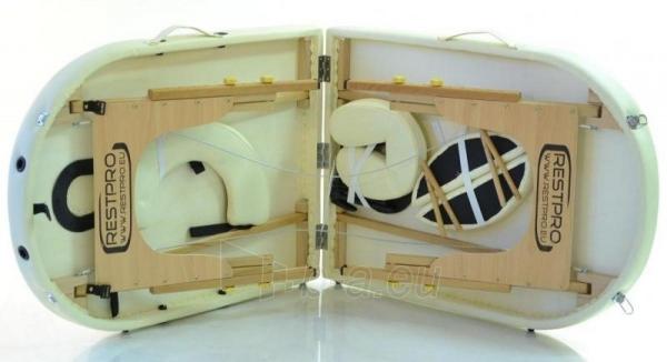 Masažo stalas RESTPRO Classic Oval 3 Cream - sudedamas Paveikslėlis 4 iš 5 310820040610