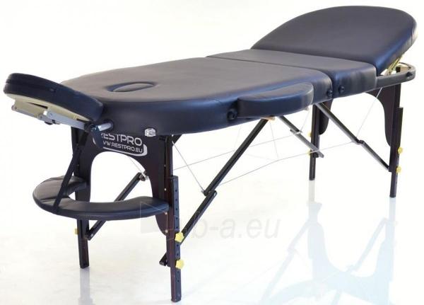 Masažo stalas RESTPRO VIP OVAL 3 Black - sudedamas Paveikslėlis 1 iš 3 310820040632