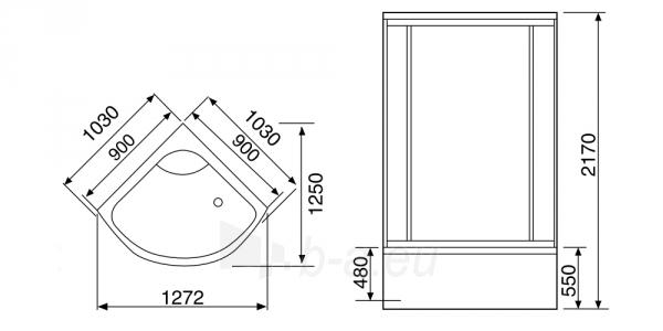 Masažuojanti garo kabina Duschy 103x103x217 cm LED Paveikslėlis 2 iš 9 310820217382