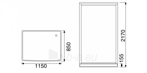 Masažuojanti garo kabina Duschy 115x85x217 cm Paveikslėlis 2 iš 6 310820217383