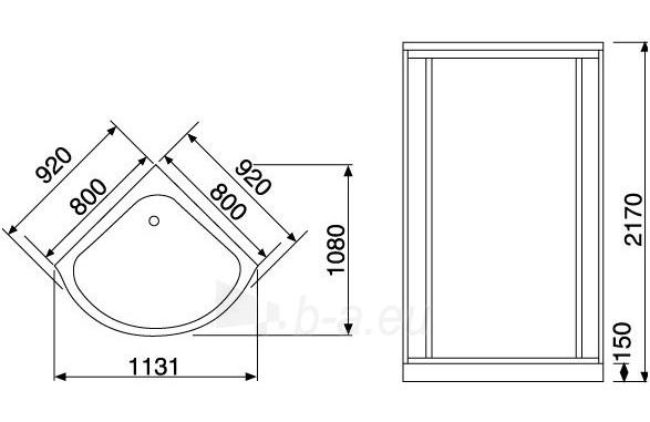 Masažuojanti garo kabina Duschy 92x92x217 cm Paveikslėlis 7 iš 7 310820217380