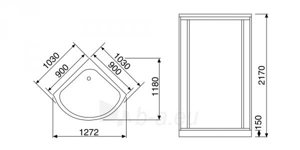 Masažuojanti garo kabina Duschy tonuota 103x103x217 cm LED Paveikslėlis 2 iš 9 310820217381