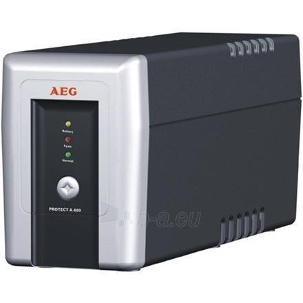 AEG UPS Protect.A 700, 700VA / 420W / 3 + 1 x IEC 320 C13 Load outputs/ Phone, fax & modem protection / USB / RS232 Paveikslėlis 1 iš 1 250254300358