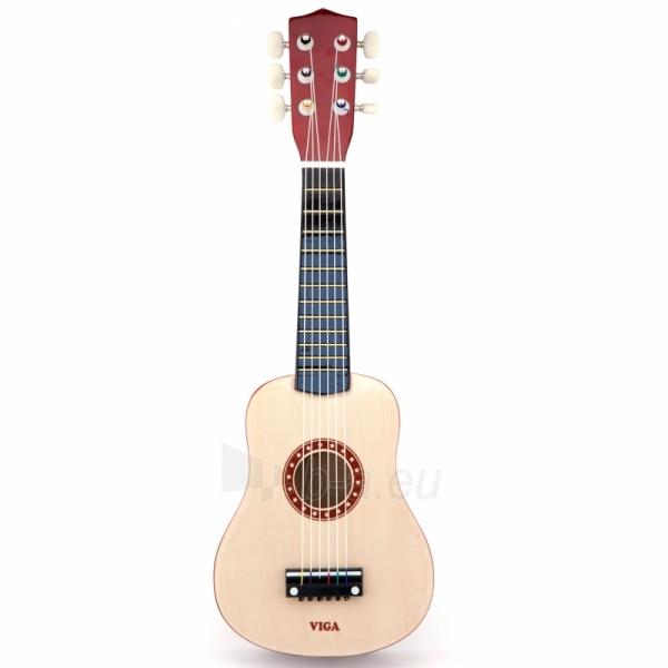 Medinė gitara vaikams   21 coliai 6 stygos   Viga 50692 Paveikslėlis 1 iš 2 310820210177