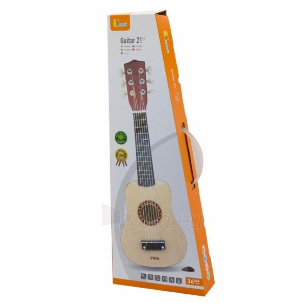 Medinė gitara vaikams   21 coliai 6 stygos   Viga 50692 Paveikslėlis 2 iš 2 310820210177