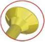 Medsraigčiai įleidžiama galva TORX 3,5/50/30 400vnt Paveikslėlis 4 iš 4 236032000183